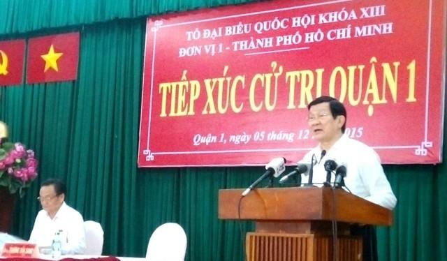 Chủ tịch nước Trương Tấn Sang: Tôi đã toàn tâm toàn ý nỗ lực thực hiện nhiệm vụ