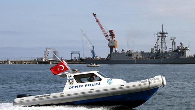 Tàu cảnh sát của Thổ Nhĩ Kỳ. (Nguồn: bloomberg.com)