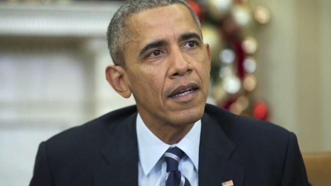 Tổng thống Obama đọc thông điệp chống khủng bố từ Nhà Trắng - Ảnh: USA Today