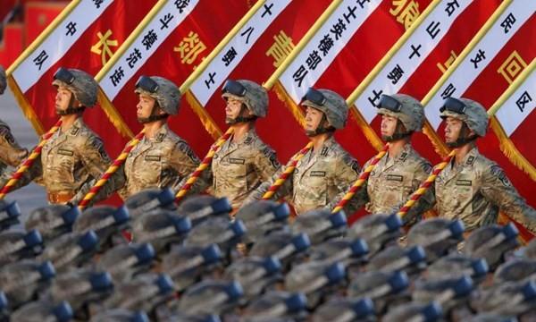 Quân đội Trung Quốc trong cuộc duyệt binh ngày 3.9.