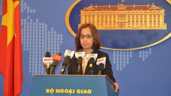 Phó phát ngôn Bộ Ngoại giao Phạm Thu Hằng - Ảnh: Q.Trung