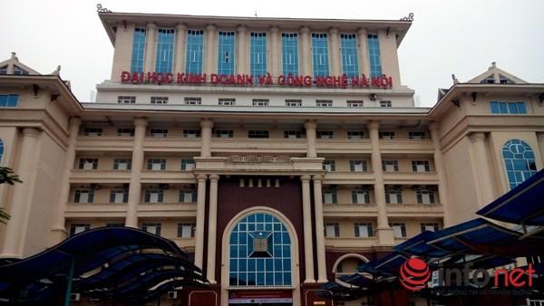 Trường ĐH Kinh doanh và Công nghệ Hà Nội, nơi dư luận đang xôn xao.