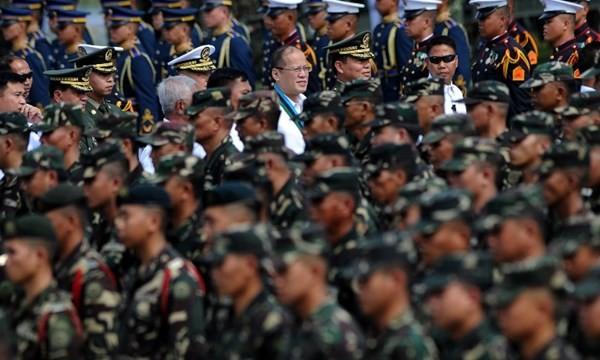 Ông Benigno Aquino tại lễ kỷ niệm 80 năm thành lập lực lượng vũ trang Philippines