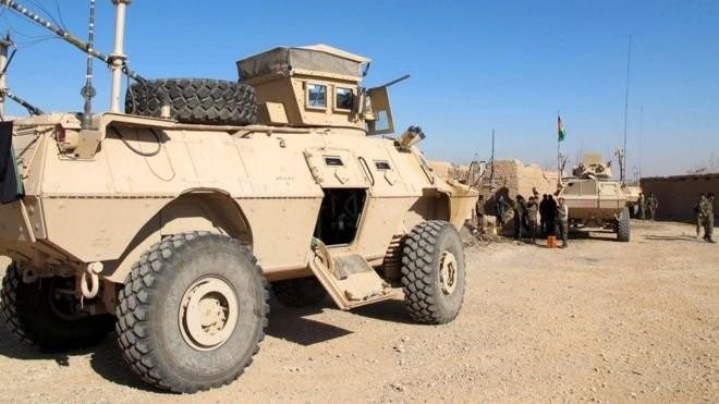 Lực lượng quân sự Afghanistan ở tỉnh Helmand đang bị Taliban gây sức ép dữ dội - Ảnh: EPA