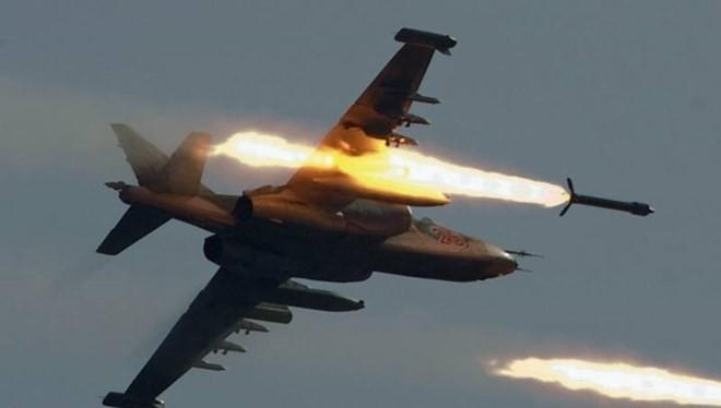 Máy bay chiến đấu Nga không kích mục tiêu ở Syria. (Nguồn: republika.mk)