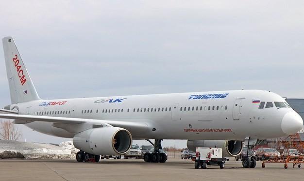Máy bay Tu-204SM của Nga. (Nguồn: AP)