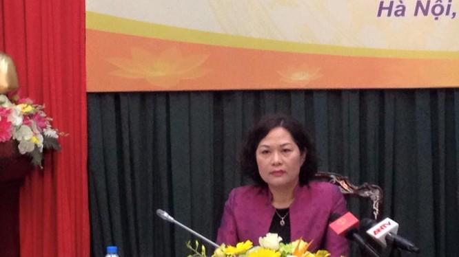 Phó Thống đốc Ngân hàng Nhà nước Nguyễn Thị Hồng