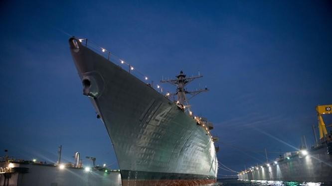 Tàu khu trục Arleigh Burke mới của Hải quân Mỹ, chiếc Ralph Johnson (DDG-114) - Ảnh: Huntington Ingalls Industries