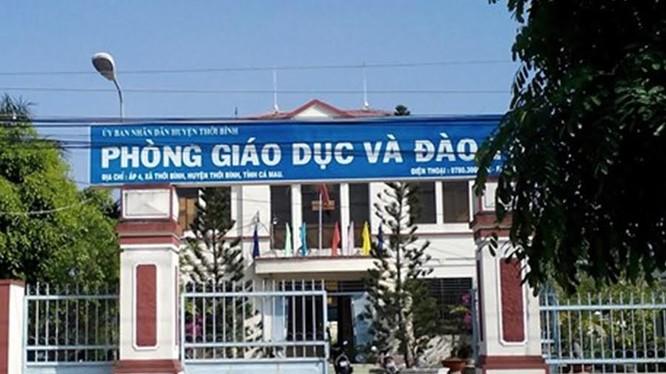 Phòng GD & ĐT huyện Thới Bình còn nợ lương giáo viên rất nhiều