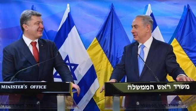 Tổng thống Ukraine Poroshenko và Thủ tướng Israel Netanyahu