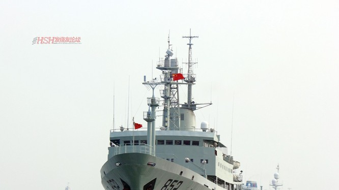 Tàu trinh sát điện tử Hải Vương Tinh. Ảnh: Chinamil