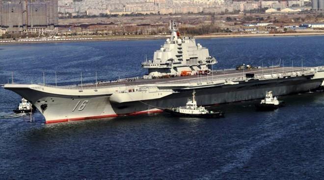 Hàng không mẫu hạm Liêu Ninh của Trung Quốc. Ảnh: RT