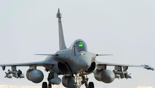 Máy bay Rafale của Pháp tham gia không kích IS. (Nguồn: washingtonpost.com)