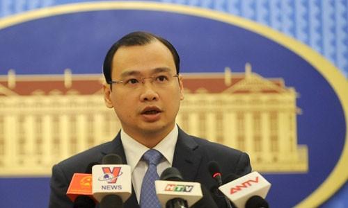 Ông Lê Hải Bình, phát ngôn viên Bộ Ngoại giao Việt Nam. Ảnh: Quý Đoàn