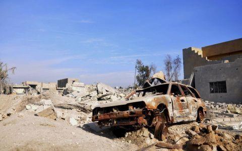 Một vụ đánh bom xe do IS thực hiện tại Ramadi. Ảnh AP