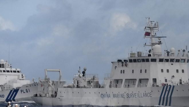 Tàu hải giám Trung Quốc gần khu vực quần đảo tranh chấp Senkaku/Điếu Ngư trên Biển Hoa Đông ngày 1/7. (Nguồn: Kyodo/TTXVN)