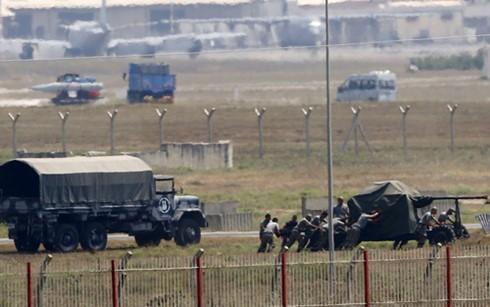Binh sĩ Thổ Nhĩ Kỳ tại một căn cứ không quân của nước này. Ảnh: Reuters.