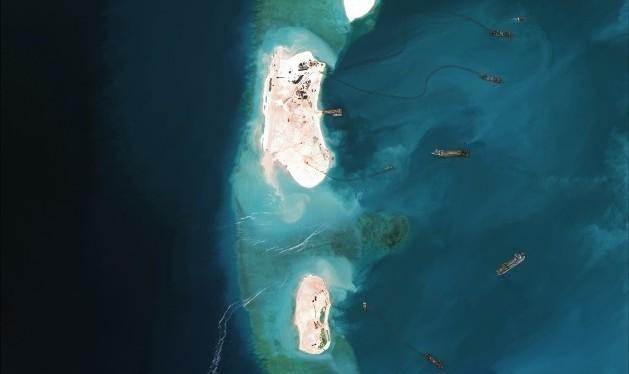 Đá Vành Khăn thuộc quần đảo Trường Sa của Việt Nam. Ảnh: CSIS
