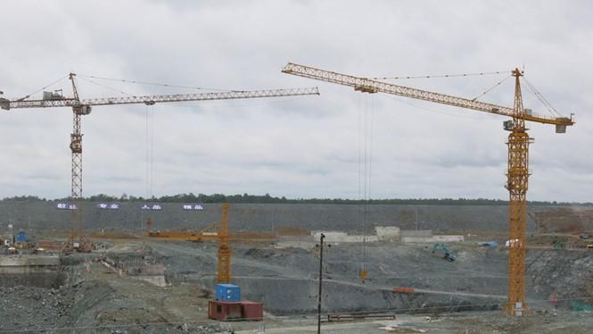 Đập Hạ Sesan 2 đang nhanh chóng tượng hình - Ảnh: Mekong Commons