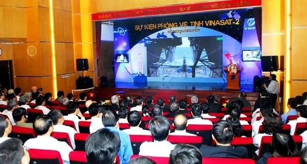 Công bố sự kiện phóng vệ tinh Vinasat 2 năm 2012. Ảnh minh họa, VNPT