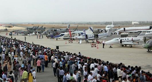 Một cuộc triển lãm hàng không quốc tế được tổ chức tại Ấn Độ năm 2015. (ảnh: sputniknews.com)