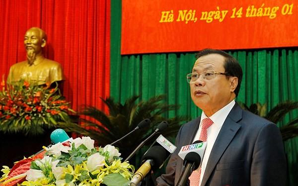 Đồng chí Phạm Quang Nghị, Ủy viên Bộ Chính trị, người chỉ đạo Đảng bộ Thành phố Hà Nội.