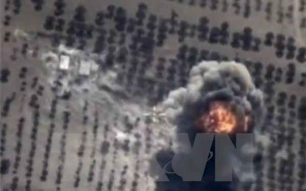 Không quân Nga không kích trung mục tiêu IS tại tỉnh Idlib, Syria. (Nguồn: Reuters/TTXVN)
