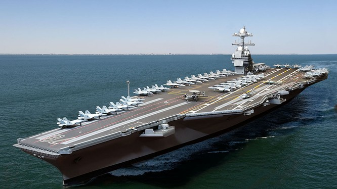 Video quá trình chế tạo siêu tàu sân bay lớp Gerald R. Ford