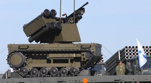 """Robot chiến đấu """"Platform-M"""" của quân đội Nga. Ảnh: Sputnik"""