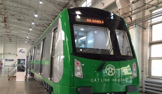 Bộ Giao thông vận tải vừa yêu cầu chỉnh sửa nhiều chi tiết trên đoàn tàu Cát Linh - Hà Đông.(Ảnh: Vạn Xuân)