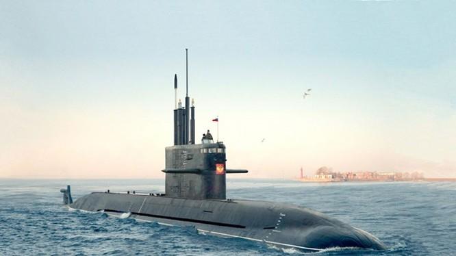 Tàu ngầm lớp Lada đầu tiên của Nga, chiếc Saint Petersburg - Ảnh: Nhà máy Admiralty