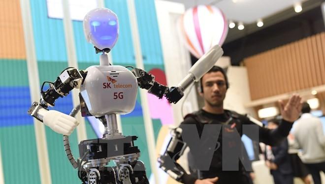 Sản phẩm robot viễn thông của công ty SK. (Nguồn: AFP/TTXVN)