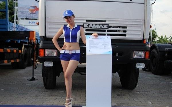 Xe Kamaz được giới thiệu tại một triển lãm ô tô tại Việt Nam gần đây - Ảnh: internet