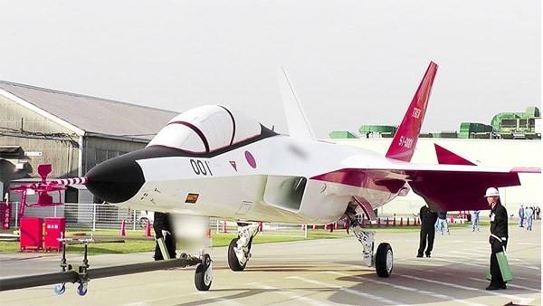 Mẫu máy bay chiến đấu tàng hình đầu tiên của Nhật Bản. (Ảnh: Bộ Quốc phòng Nhật Bản)