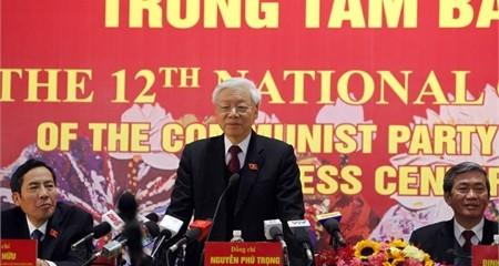Tổng Bí thư Nguyễn Phú Trọng tại cuộc họp báo sáng 28/1
