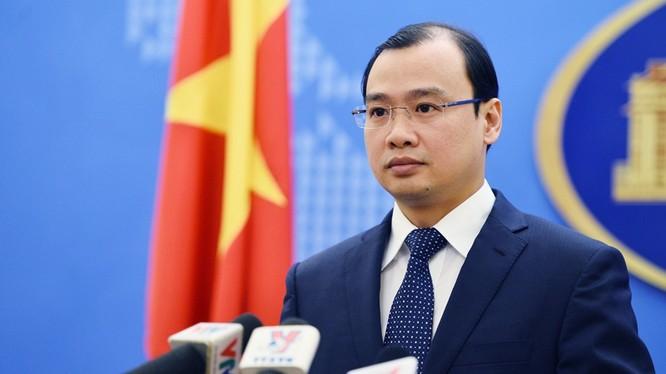 Ông Lê Hải Bình, người phát ngôn Bộ Ngoại giao Việt Nam. Ảnh: Hoàng Hà