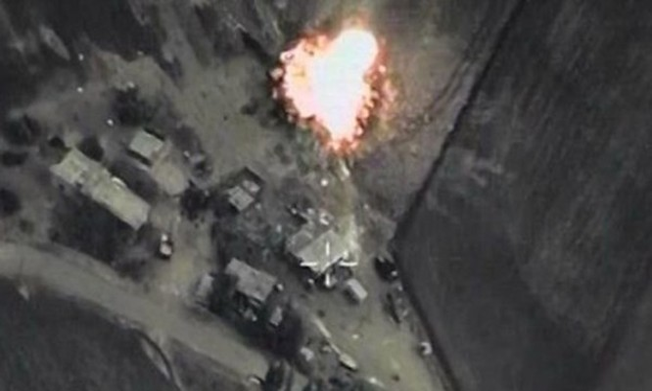 Một cuộc không kích của Nga tại Syria.