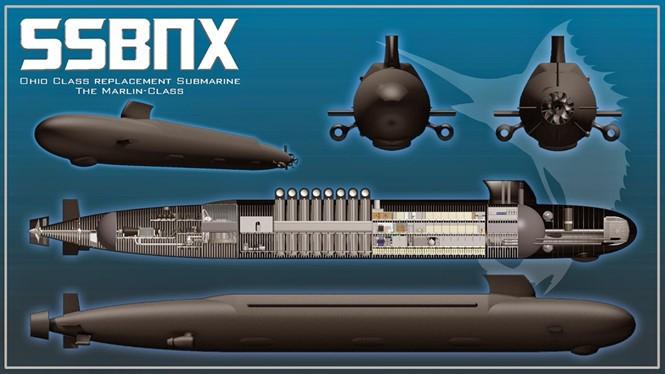 Đồ họa mô phỏng tàu ngầm thế hệ mới thay thế cho lớp Ohio - Ảnh: Viện nghiên cứu Hải quân Mỹ