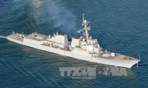 Tàu khu trục được trang bị tên lửa dẫn đường USS Lassen của Mỹ. Ảnh: Kyodo/TTXVN