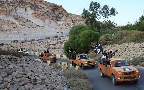 Phiến quân IS tại Libya. Ảnh AP