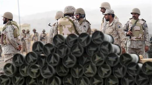 Binh sĩ Saudi Arabia tại một chốt quân sự giáp biên giới với Yemen. Ảnh: AFP