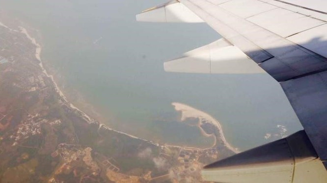 Ảnh chụp từ máy bay tới đảo Phú Lâm hôm 6/2. Ảnh: CCTV