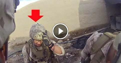 Clip: Mũ trận cứu lính Mỹ khỏi phát đạn tử thần của Sniper