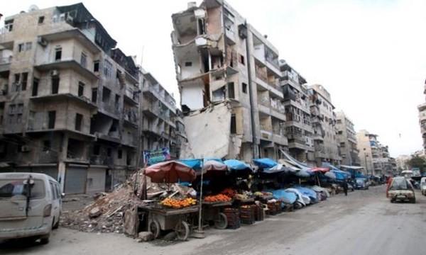 Quang cảnh đổ nát của thành phố Aleppo