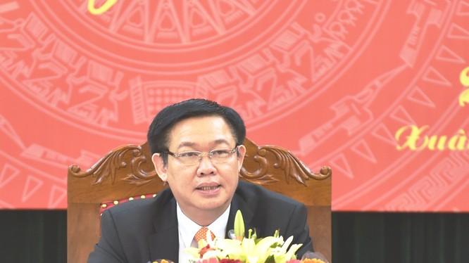 Ủy viên Bộ Chính trị, Trưởng Ban Kinh tế Trung ương Vương Đình Huệ. Ảnh: VGP/Nhật Bắc