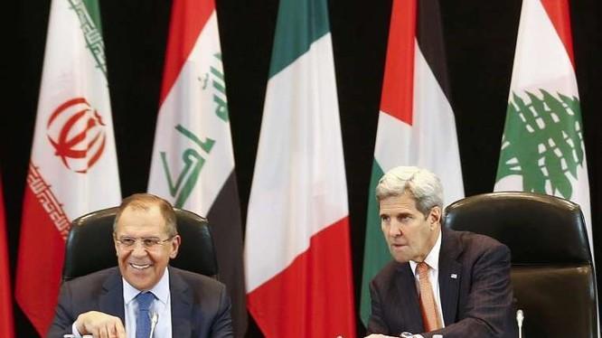 Đại diện các bên tham gia cuộc họp quốc tế về khủng hoảng Syria ngày 11/2. Ảnh: AAP