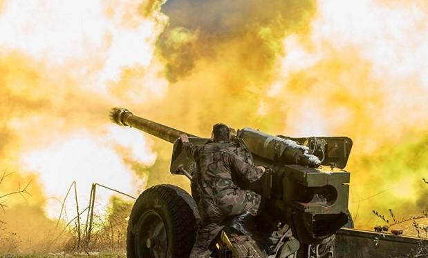 Lực lượng quân đội Syria chiến đấu. (Nguồn: Sputnik)