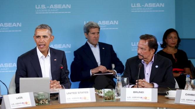 Tổng thống Mỹ Barack Obama phát biểu tại hội nghi Mỹ - ASEAN - Ảnh: Reuters