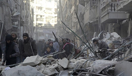 Aleppo hoang tàn vì các cuộc giao tranh. Ảnh: Reuters