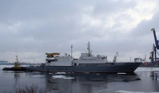 Tàu cứu hộ Igor Belousov chạy thử nghiệm